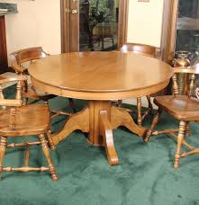 round maple dining table and chairs ebth