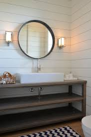 bathroom vanities round mirrors wall sconces and mirror
