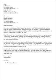 cover letter for it support engineer job cover letter resume