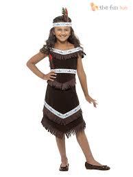 Pocahontas Costume Girls Native Red Indian Fancy Dress Book Week Costume Pocahontas