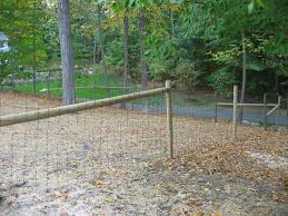 professionally installed residential woven wire fencing in ct