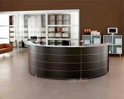 Contemporary Reception Desks by Best Curve Shape For Modern Reception Desk Plus Transparent
