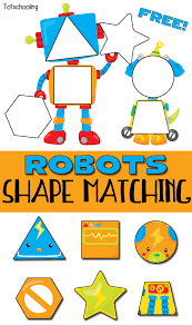 robots shape matching puzzle for toddlers totschooling toddler