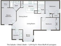 floor plans 3 bedroom 2 bath 3 bedroom apartment floor plans pricing river bluff of