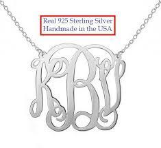 2 inch monogram necklace monogram necklace bettyzdesigns
