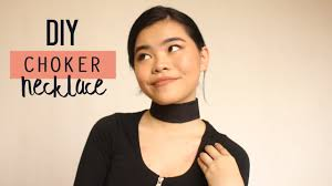 black choker necklace diy images Diy thick choker necklace jpg