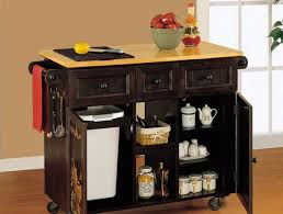 Movable Kitchen Island Ideas Simple Kitchen Style With Wooden Brown Movable Kitchen