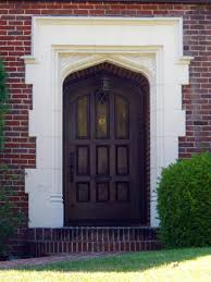 front door designs for your amazing house brick wall green yard