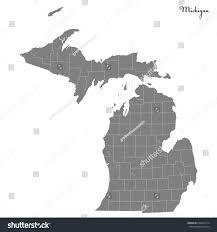 Map If Us High Quality Map Us State Michigan Stock Vector 638452114