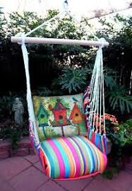 hammock swing chair tote and pillow cushions by magnolia casual