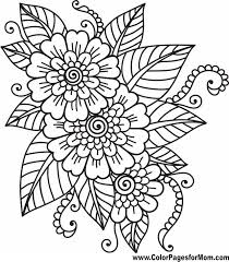printable coloring pages for adults flowers flower coloring page 41 pinteres