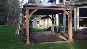 Outdoor Patio Gazebo 12x12 by Pt 3 Costco Yardistry 12x14 Wood Gazebo Final Assembly Youtube
