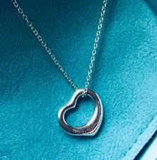 heart pendant necklace tiffany images Tiffany co elsa peretti open heart silver pendant necklace jpg