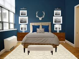 Romantic Bedroom Designs With Bold Colours Benjamin Moore Silver Lake 1598 Love The Color And Design Of The