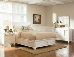 Bed With Headboard And Drawers Furniture Brown Stain Wooden Platform Queen Size Bed With