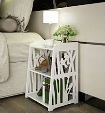 amazon com mybestfurn small plastic wood white bed end table