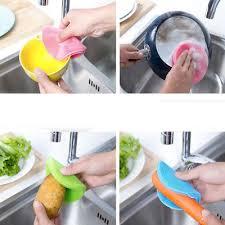 nettoyage cuisine silicone vaisselle éponge ton à récurer cuisine nettoyage