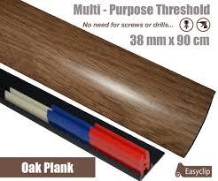 Laminate Flooring Doorway Transition Oak Plank Laminate Transition Strip 38mm X 0 90mtr Multi Height