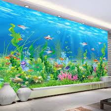 online get cheap wall murals custom aliexpress com alibaba group cartoon seabed fish seaweed wall mural custom kids wallpaper for walls children s bedroom wall paper home