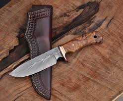 custom knife maker in north idaho c thomas knives large game hunter camp knife spalted cherry
