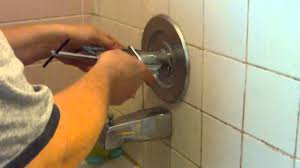 remove a stuck shower faucet handle youtube