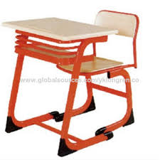 Easy To Assemble Desk Double Desk And Chair With Powder Coating Made Of Steel