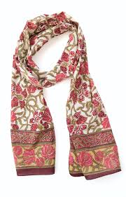 anokhi usa scarf in wine trellis