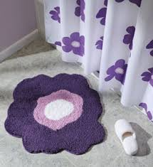 Purple Bathroom Rug Flower Bath Rug Purple In Bathroom Rugs