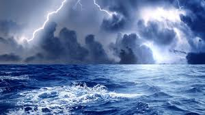 forces of nature sky exciting ocean lightning sea clouds nature