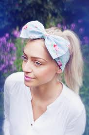 floral headband vintage floral bow headband pink floral headband dolly bow