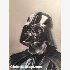 colored pencil sketch of darth vader in star wars johndibiase com