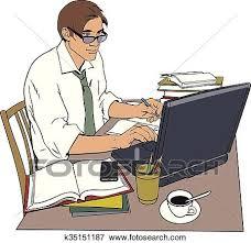 clipart uomo clip uomo lavoro e uno grande numero di documenti