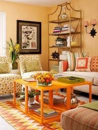 orange living room furniture foter