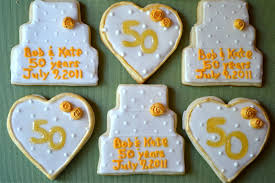 50th wedding anniversary party favors 50th anniversary sugar cookies a dash of megnut