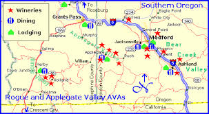 selma oregon map rogue valley wine country map to rogue valley wine region