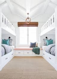 built in bunk beds beach house home decor ideas