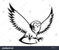 flying birds tattoo designs flying owl mascot tattoo design such stock vector 93259228