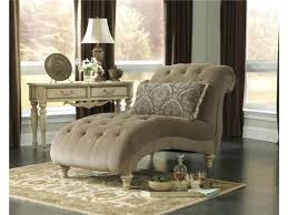 Antique Side Tables For Living Room Trendy Living Room Chaises From Brown Linen Upholstery Fabric And