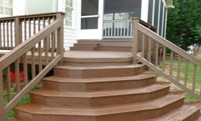 how to build free standing wooden steps outside metal stairs