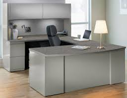 U Shape Desk Modern U Shaped Desk Gray Thediapercake Home Trend