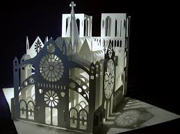 the kingdom of origami architecture notre dame cathedral pop up
