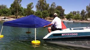 Tarp Canopy Kits by Floating A Canopy With The Water Shade Canopy Float Kit Youtube
