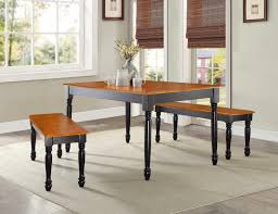 farmhouse black oak wood bench modern wooden furniture dining room