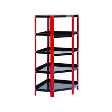 corner steel red black shelving unit get extra storage from sears