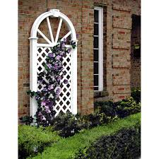 dura trel cambridge 6 ft vinyl arch trellis white hayneedle