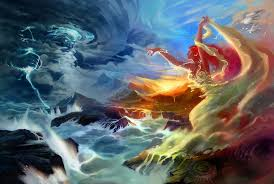 angel and zeus color fight abstract 3d cg ultra 3840x2160 hd wallpaper 1087713 jpg