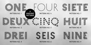 stylish pattern fonts by eike dingler of foundry mauve type