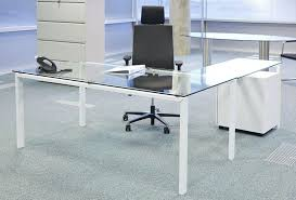 Glass Desk Modern Glass Table Desk Bethebridge Co