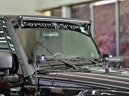 jeep jk hood led light bar 2007 2016 jeep wrangler jk led light mounts brackets by rigid