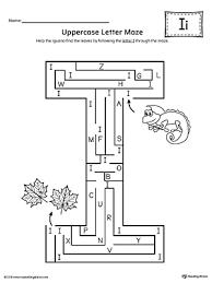 uppercase letter i maze worksheet myteachingstation com